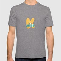 Letter K Mens Fitted Tee Tri-Grey SMALL