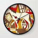 Abstract Pattern Unicorn Wall Clock