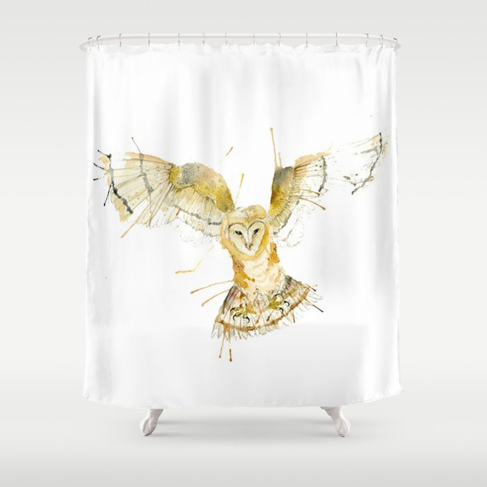 My Barn Owl Shower Curtain By Meg Ashford Society6