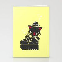 Cat In Platform Shoe Stationery Cards