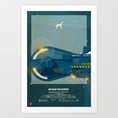 Spinner 995 I/III Blade Runner Art Print