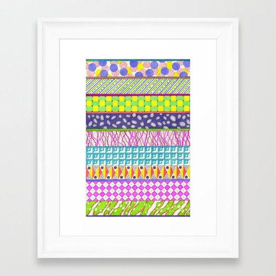 colour tangles Framed Art Print
