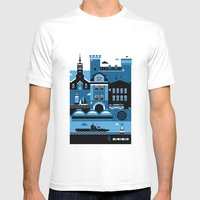 Tallinn Mens Fitted Tee White SMALL
