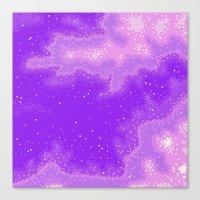 Purple Nebula (8bit) Canvas Print