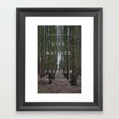Native Freedom Framed Art Print