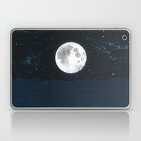 Blue Moonscape Laptop & iPad Skin