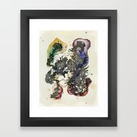 An angry cell Framed Art Print