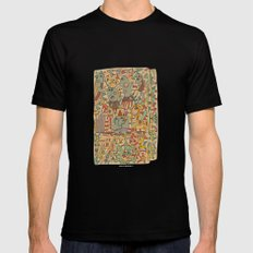 - schematic - Mens Fitted Tee Black SMALL