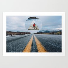 the road so far... Art Print