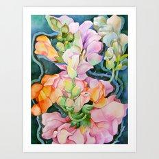 Colorful in the dark Art Print