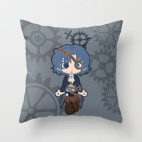 Steampunk Sailor Mercury Throw Pillow