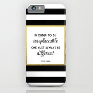 iPhone & iPod Case featuring Coco Gold Irreplaceable … by Poppy Loves To Groov…