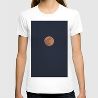 Moon Face Womens Fitted Tee White SMALL