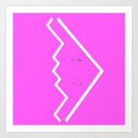 B-2 Pink Art Print