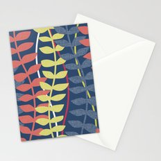 seagrass pattern - blue red yellow Stationery Cards