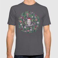 Owl Wreath Mens Fitted Tee Asphalt SMALL