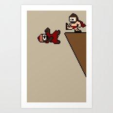 300 Pixels Art Print