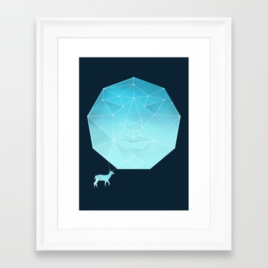 Deer god Framed Art Print