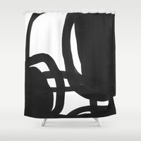 Black & White Abstract 2 Shower Curtain