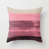 Acrylic Pink & Black Throw Pillow