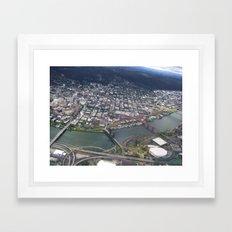 Portland from Above Framed Art Print