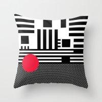 Stripes Mesh Throw Pillow