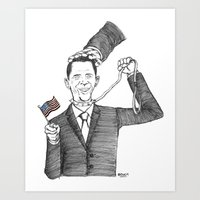 Obamanania Art Print