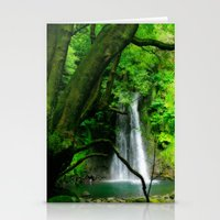 Waterfall In Azores Isla… Stationery Cards