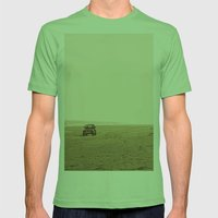 Montauk Beach Jeep Mens Fitted Tee Grass SMALL