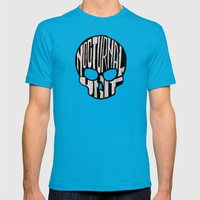 NU skull Mens Fitted Tee Teal SMALL