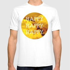 Happy Happy Happy II Mens Fitted Tee White SMALL
