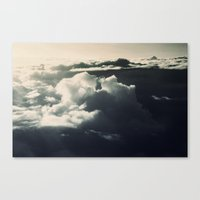Face in the sky Canvas Print