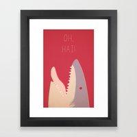 Sharky Framed Art Print
