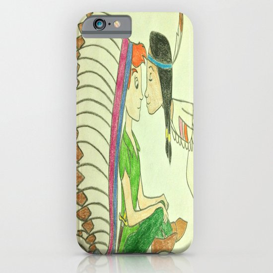 Peter Pan and Tiger Lily iPhone & iPod Case