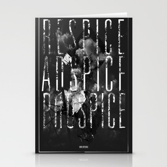 Respice, Adspice, Prospice Stationery Card