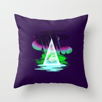 Northern Air Throw Pillow
