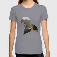 Here and Now Womens Fitted Tee Slate SMALL