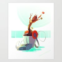 Walkmen Adventures Groot Art Print