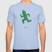 Cactuar Mens Fitted Tee Athletic Blue SMALL