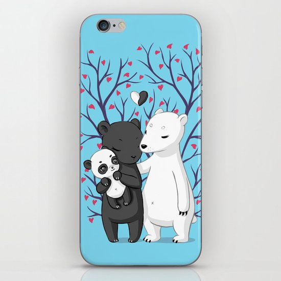 Bear Family iPhone & iPod Skin