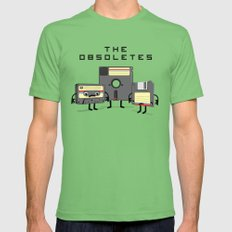 The Obsoletes (Retro Floppy Disk Cassette Tape)  Mens Fitted Tee Grass SMALL
