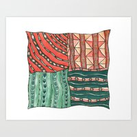 Patterned Piece #1 Art Print