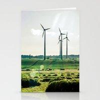 Wind generators Stationery Cards