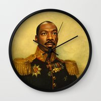 Eddie Murphy - replaceface Wall Clock