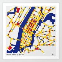 BOOGIE WOOGIE NEW YORK Art Print