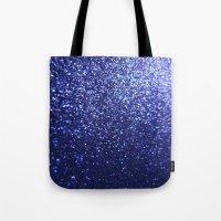 Royal Blue Glitter Sparkles Tote Bag