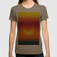 Sunset Abstract Womens Fitted Tee Tri-Coffee SMALL
