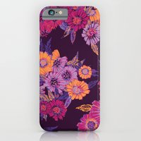 Floral in purple tones iPhone 6 Slim Case