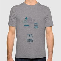 Tea Time Mens Fitted Tee Athletic Grey SMALL