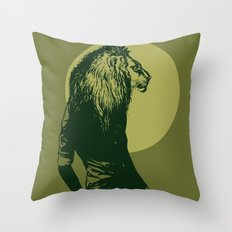 leone pistacchio Throw Pillow